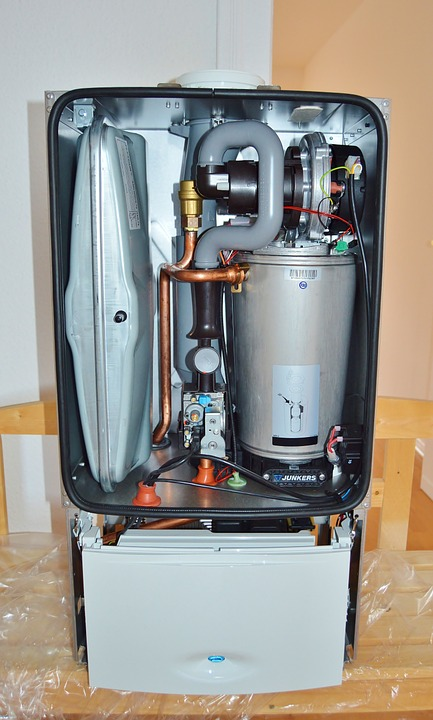 inside a gas tankless water heater