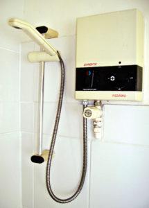 water heater indoors