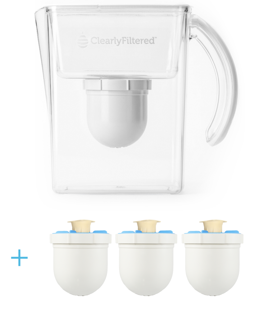 clearly filtered water pitcher