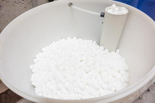 an barrel of salt blocks for the softener