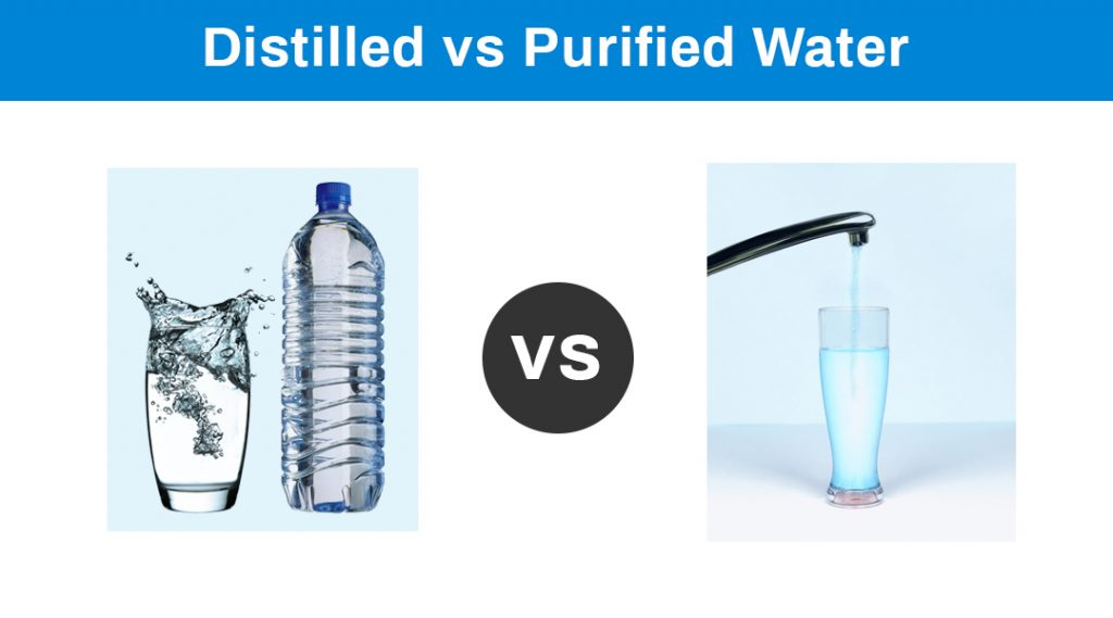 Distilled VS Purified Water